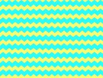 Желтый цвет и шеврон aqua Стоковое Изображение RF