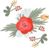 желтый цвет картины сердца цветков падения бабочки флористический также вектор иллюстрации притяжки corel Стоковые Фотографии RF