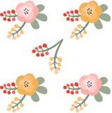 желтый цвет картины сердца цветков падения бабочки флористический также вектор иллюстрации притяжки corel Стоковое Изображение RF