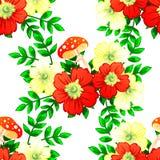 желтый цвет картины сердца цветков падения бабочки флористический Стоковая Фотография