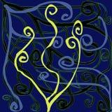 желтый цвет картины сердца цветков падения бабочки флористический Стоковые Изображения