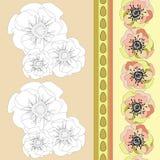 желтый цвет картины сердца цветков падения бабочки флористический бесплатная иллюстрация
