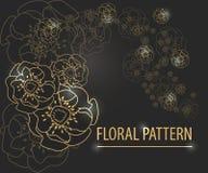 желтый цвет картины сердца цветков падения бабочки флористический Стоковое Изображение RF