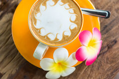 желтый цвет кофейной чашки Стоковые Изображения