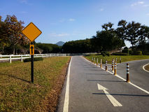 желтый цвет дороги парка осени Стоковое фото RF