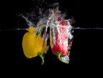 желтый цвет паприки красный Стоковые Фото