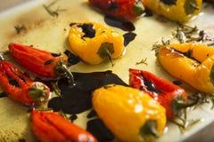 желтый цвет перца красный Стоковые Фотографии RF