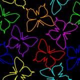 желтый цвет померанцовой картины цвета бабочки красный Стоковые Изображения RF