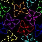 желтый цвет померанцовой картины цвета бабочки красный Стоковые Изображения