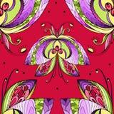 желтый цвет померанцовой картины цвета бабочки красный Стоковые Фотографии RF