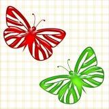 желтый цвет померанцовой картины цвета бабочки красный Стоковое Изображение