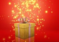 Желтый цвет подарочной коробки Стоковое Изображение RF