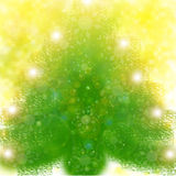 желтый цвет рождественской елки предпосылки стоковая фотография