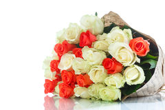 желтый цвет роз букета красный Стоковое Фото