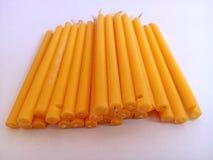 Желтый цвет свечи Стоковое Фото