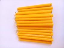 Желтый цвет свечи Стоковые Фото