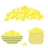 желтый цвет семени мозоли Стоковые Фото