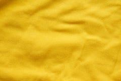 желтый цвет текстуры ткани предпосылки Стоковые Изображения RF