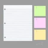 желтый цвет тени бумажного путя примечания клиппирования липкий Стоковое Изображение RF