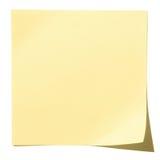 желтый цвет тени бумажного путя примечания клиппирования липкий Стоковые Изображения RF