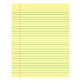 Желтый цвет тетради бумажный покрашенный на белой предпосылке Стоковая Фотография RF