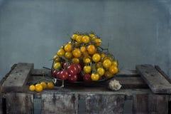 желтый цвет томатов красного цвета вишни Стоковая Фотография