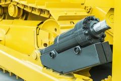 Желтый цвет трактора гидротехник Стоковое Фото