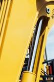 Желтый цвет трактора гидротехник Стоковое Изображение