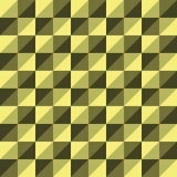 Желтый цвет треугольника полигона вектора картины безшовный Стоковые Фото