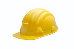 желтый цвет трудного шлема Стоковое Фото