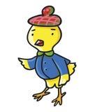 желтый цвет цыпленка Иллюстрация вектора детей Стоковые Изображения RF
