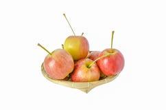 желтый цвет яблока красный Стоковые Изображения