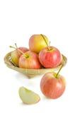 желтый цвет яблока красный Стоковые Фотографии RF