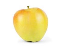 желтый цвет яблока одиночный белизна изолированная предпосылкой Конец-вверх Стоковое фото RF