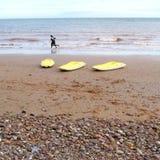 желтый цвет kayaks 3 Стоковые Изображения
