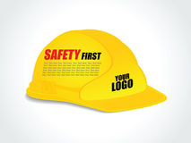 Желтый шлем конструкции работника - Vector иллюстрация Стоковые Фотографии RF
