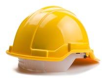 Желтый шлем конструкции Стоковое Фото