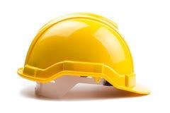 Желтый шлем конструкции Стоковая Фотография