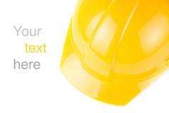 Желтый шлем строения стоковые изображения