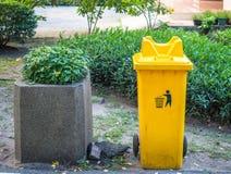 Желтый ящик сора Стоковое Изображение RF