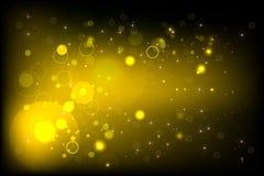 Желтый BG с bokeh Бесплатная Иллюстрация