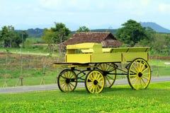 Желтый buckboard стоковые изображения