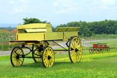 Желтый buckboard стоковое изображение rf
