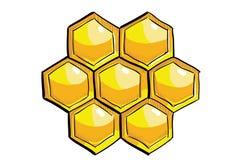Желтый handdrawn сот Стоковые Изображения RF