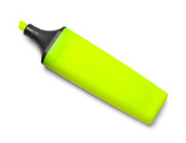 Желтый Highlighter без крышки Стоковое Изображение RF
