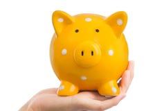 Желтый Piggy банк Стоковая Фотография RF