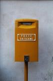 Желтый postbox Стоковые Изображения