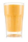 Желтый smoothie плодоовощ в стекле Стоковые Фото