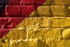 Желтым стена покрашенная красным цветом Стоковые Фотографии RF
