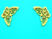 2 желтых бабочки ткани Стоковая Фотография RF